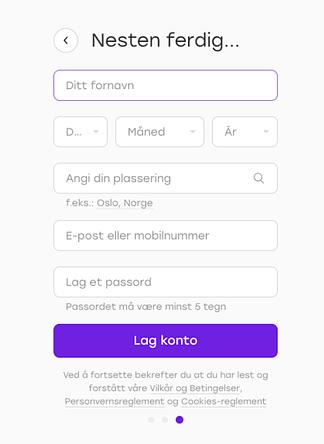 Badoo Å opprette en konto